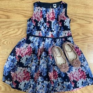 Janie and Jack Size 4 Girls Floral Blue Dress